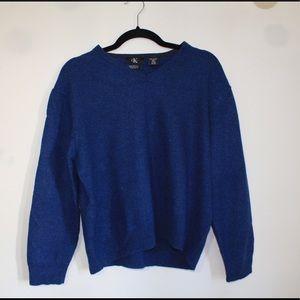 Calvin Klein Blue Merino Wool Sweater in XXL